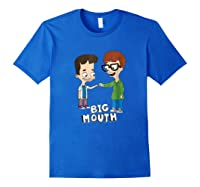 Netflix Big Mouth Fist Pump Shirts Royal Blue