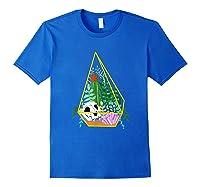 Pastel Goth Geometric Terrarium Skull, Crystals & Succulents Shirts Royal Blue
