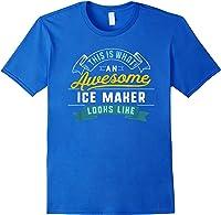 Funny Ice Maker Shirt Awesome Job Occupation Graduation T-shirt Royal Blue