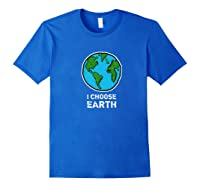 Earth Wind Fire Water Science March Scientist Day Tshirt Royal Blue