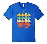 Retro New York City Skyline Pop Art Shirt Royal Blue