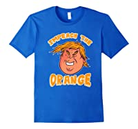 Impeach Donald Anti Trump Orange Emoji Premium T Shirt Royal Blue