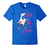 Floral Breast Cancer Awareness Month Figth T Shirt Royal Blue