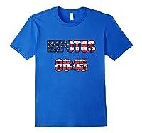 Ex Potus 8645 Anti Trump Distressed Pro Impeach 45 Tshirt Royal Blue