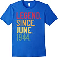 Legend Since June 1944 77th Birthday 77 Years Old Vintage T-shirt Royal Blue