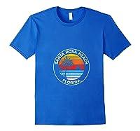 Vintage Santa Rosa Beach Florida Souvenir Beach T-shirt Royal Blue