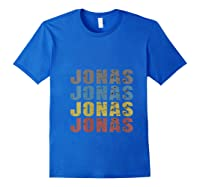 Jonas First Given Name Pride Funny T Shirt Royal Blue