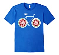 Fixie Single Speed Watermelon Bicycle T Shirt Gift Royal Blue