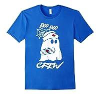 Boo Boo Crew Nurse Ghost Funny Halloween Costume Gift T-shirt Royal Blue