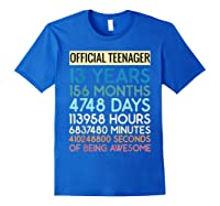 Nager Vintage 13 Years Birthday N Gifts Shirts Royal Blue