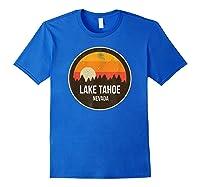 Vintage Retro Lake Tahoe Nevada Shirts Royal Blue