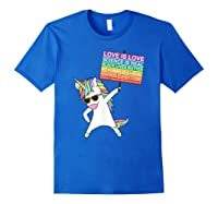 Social Justice Unicorn Equality Protest Human Rights T-shirt Royal Blue