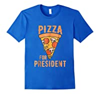 Impeach Trump Pizza For President Pizza Lovers T Shirt Royal Blue