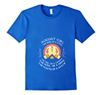 August Girl The Soul Of A Gypsy T Shirt August Girl Birthday T Shirt Royal Blue