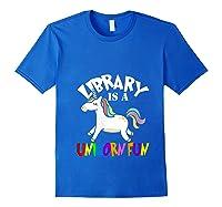 Library Is Unicorn Shirts Unicorn Librarian Team Reading T Shirt Royal Blue