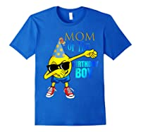 Cool Dancing Dabbing Emoji Mom Of Birthday Boy Party Shirts Royal Blue