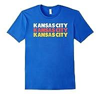 Retro Red Yellow W Cool Kansas City Design Shirts Royal Blue