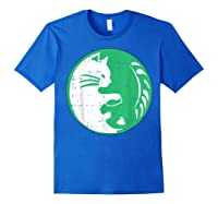 Area 51 Alien Cat Yin Yang Easy Lazy Kitten Halloween Gift Shirts Royal Blue