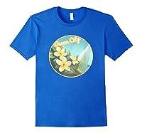 Ocean City Maryland Surfing Flower T Shirt Royal Blue