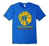 The Lyin King Impeach Anti Trump Premium T Shirt Royal Blue