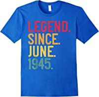 Legend Since June 1945 76th Birthday 76 Years Old Vintage T-shirt Royal Blue