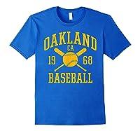 Oakland Baseball Vintage Oak Pride Retro Distressed Gift Shirts Royal Blue