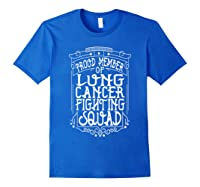 Fighting Squad Lung Cancer Awareness T-shirt Royal Blue