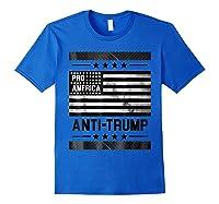Pro America Anti Trump 4th Of July Impeach Trump T Shirt Royal Blue