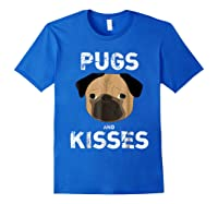 Pugs And Kisses Dog Animal Pet Funny Valentine S Day T Shirt Royal Blue