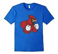 Cardinal Fighting Cardinals Mad Bird Graphic Shirts Royal Blue