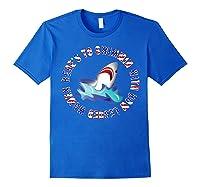 Shark Bow Legged Funny Shirt Royal Blue