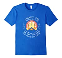 August Girl The Soul Of A Gypsy T Shirt August Girl Birthday Premium T Shirt Royal Blue