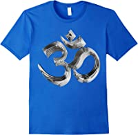 Om Yoga Chrom Zeichen   Buddha Vishnu Liebe Schwarz Weiß T-shirt Royal Blue