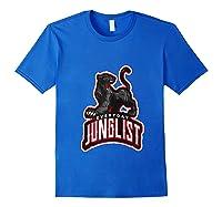 Junglist Dnb Drum And Bass Rave Panther Zip Shirts Royal Blue