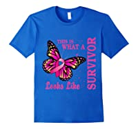 This Is What A Survivor Looks Like Breast Cancer Awareness T Shirt Royal Blue