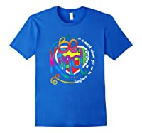In A World Where You Can Be Anything Be Kind Autism Premium T-shirt Royal Blue
