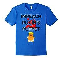 Impeach Putin S Puppet T Shirt Funny Anti Trump Shirts Royal Blue