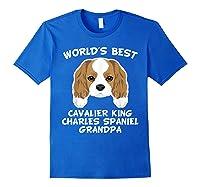 S World's Best Cavalier King Charles Spaniel Grandpa T-shirt Royal Blue