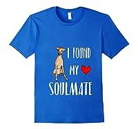 I Found My Soulmate Italian Greyhound Dog Lover Best Friend T-shirt Royal Blue