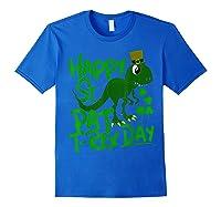 Happy St Pat T Rex Day T Shirt Saint Patrick S Dinosaur Royal Blue
