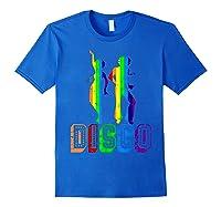 1970s Disco Dancers Vintage Rainbow 1970's Gift Shirts Royal Blue