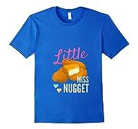 Little Miss Nugget Chicken Nuggs Artwork Shirts Royal Blue