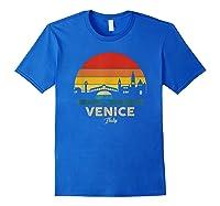 Vintage Venice T Shirt Italy Souvenir T Shirt Royal Blue