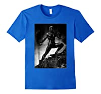 Black Panther Movie Shadow Cliff Stance Shirts Royal Blue