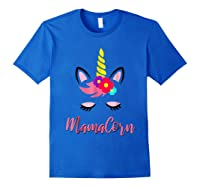 Mamacorn T Shirt Cute Funny Unicorn Gift For Mothers Day Mom Royal Blue