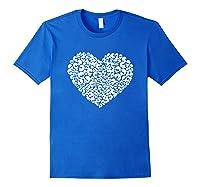 Heart Of Skulls Funny Valentine S Day T Shirt Royal Blue