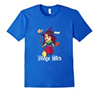 Village Witch Halloween Trick Or Treat Shirts Royal Blue