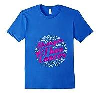 Stronger Than Cancer Pink Ribbon Breast Cancer Awareness T Shirt Royal Blue