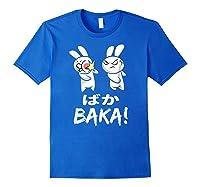 Anime Japanese Baka Rabbit Slap Manga T Shirt Gift Funny T Shirt Royal Blue