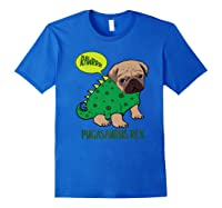 Pugasaurus Rex Cute Pug Dinosaur T Rex Halloween Costume Premium T-shirt Royal Blue